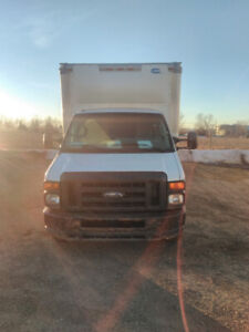 2010 Ford Cub Van diesel runs very good use for daily delivery .