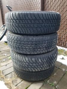 4 rims 14 po avec pneu d'été