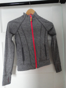 Ivivva sweater-size 8-reversable grey and pink-great condition