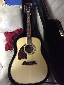 Left Handed Guitar and Case