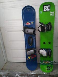2 Snowboards                 (148, 149cm )    / Planche à neige