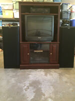 Corner unit & TV & Stereo