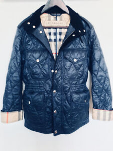 Burberry Brit Men's Russel Diamond Quilted Jacket (Navy, Small)