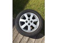 """Peugeot 16"""" alloy wheel with Bridgestone tyre"""