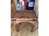 Mexican pine lamp table and large coffee table