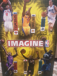 NBA Wallboard Collage - For man cave $15.00
