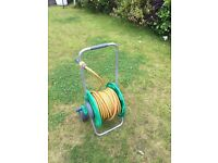 HOZELOCK 2-IN-1 REEL AND KART WITH HOSE 25M