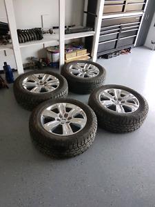 Ser of 4 rims and tires off f150 Platinum