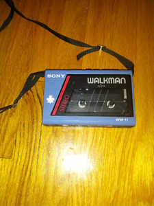 Sony walkman wm-11 stereo cassette player wm-11/22