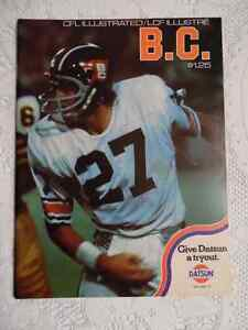 CFL B.C.LIONS PROGRAM Cambridge Kitchener Area image 1