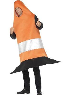 Herren Erwachsene Verkehrskegel Maskenkostüm Junggesellenabschied Outfit von