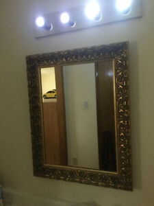WASHROOM MIRROR AND LIGHT FOR SALE