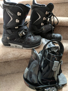 Burton snowboard step-in boots and bindings