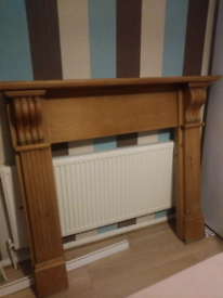 Chunky solid pine fireplace