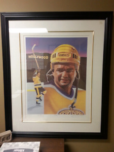 Limited Edition and Numbered Autographed  Marcel Dionne Print