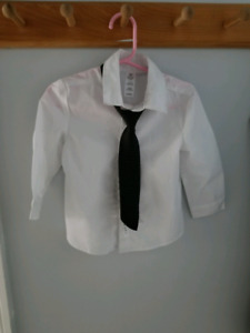 Boys toddler 2 t dress shirt and tie