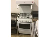 NewWorld GAS white cooker with top Grill