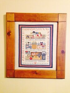 "Vintage ""I Love Antiques"" Cross Stitch"