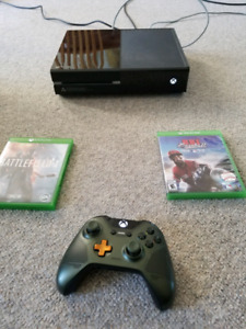 Xbox one with 1 controller and 7 games