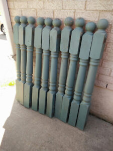 Cedar posts and spindles for porch or deck