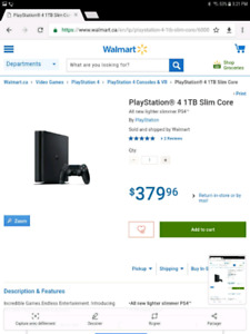 PS4 SLIM 1TO 1 MANETTE 300$