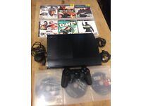 Playstation 3 Super Slimline 9 Top Games 1 Dualshock Pad All Leads Excellent Condition