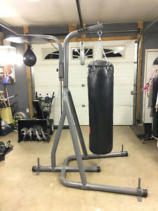 Iron Body Fitness Heavy Bag Stand with Speed Bag attachment, Spe