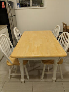 Kitchen table and chairs for sale!
