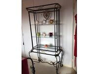 Shelving iron and glass
