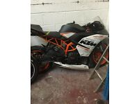 KTM RC390 14 ABS EU/UK Breaking Salvage Parts Spares: Recycle, P/X, Export.