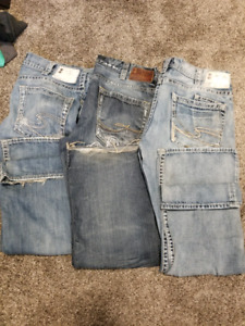 Mens Silver jeans 36×32