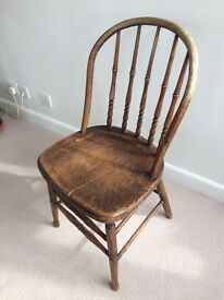 3 Wooden Windsor Chairs