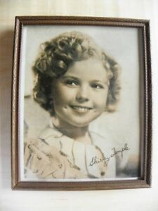 Old Framed Print of Shirley Temple