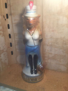 Jim Beam Bottle Decanter Renee Fox lady