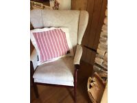 Lovely tall, wing back armchair