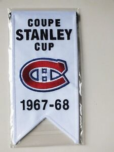 CENTENNIAL STANLEY CUP 1967-68 BANNER MONTREAL CANADIENS HABS