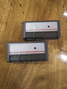 2 fixed code garage door openers