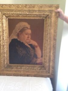 Antique Queen Victoria Print in Original Frame