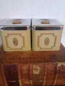 Vintage Harvest Gold Canisters Peterborough Peterborough Area image 1