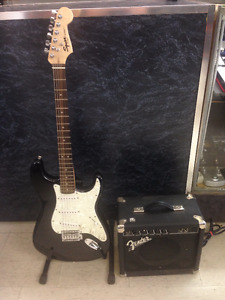 Squier strat and fender amp combo deal!