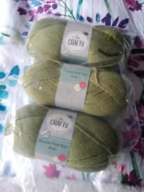 Double knit yarn khaki