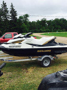 2011 seadoo gtx limited 260 with trailer