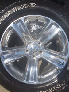 4 NEW 2018 DODGE RAM RIMS WITH GOODYEAR SR/A 275/60/20