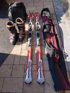 Ski's and boots..downhill