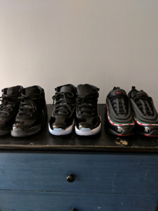Air jordan 11 space jams and prom night & air max 97 undefeated