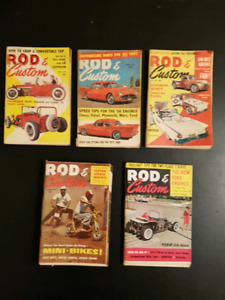 Vintage Rod and Custom Mini Magazines from 1950 and 1960's