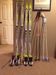 Fischer Junior Cross Country Skis, Boots, Poles