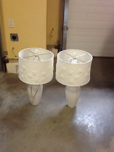 For Sale two table lamps