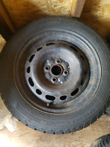 195/55/15 Goodyear Nordic winter tires and rims