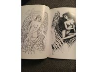 Tattoo sketch book large brand new angel book